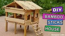 diy bamboo sticks house easy step by step backyard