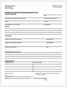 Generic Expense Reimbursement Form Expense Reimbursement Form Templates For Excel Word