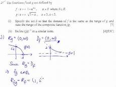 Function Domain Functions Example 7 Rjc Domain And Range Of A