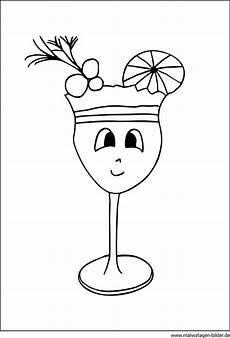 Malvorlagen Zum Ausdrucken Cocktail Cocktailglas Mit Fr 252 Chten Kostenlose Malvorlagen