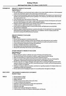 Project Manager Resume Objectives Resume Objective Examples Product Manager Product