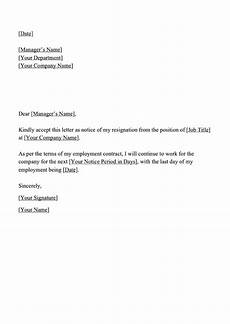 Templates For Resignation Resignation Letter Templates Download Letter Of