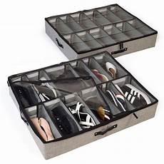 storagelab bed shoe storage organizer set of 2