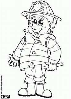 firefighter coloring pages 消防隊員 消防士 رجال الاطفاء