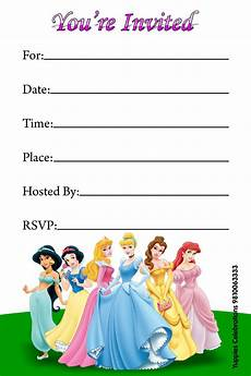 Disney Party Invitations Disney Princess Invitations Disney Princess Invitations