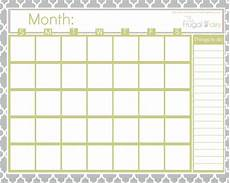 Printable Blank Calendar Free Calendars To Print Without Downloading Template