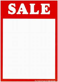 Sales Ticket Ticket Amp Poster Kits At Retaildisplaysigns Com Au