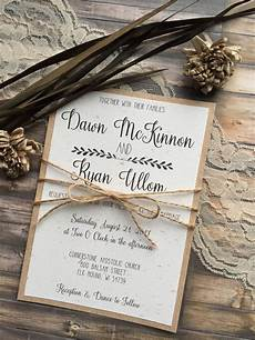 Rustic Country Wedding Invitations Rustic Wedding Invitation Vintage Wedding Invitation Elegant