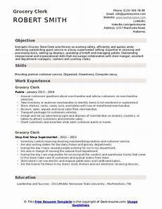 Resume For Grocery Store Clerk Grocery Clerk Resume Samples Qwikresume