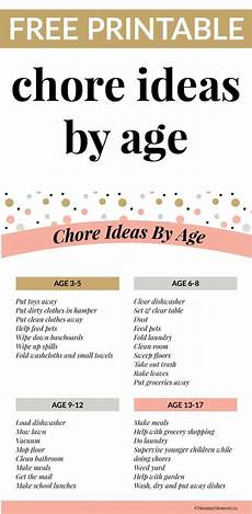 Chore List For Kids What Kids Learn By Doing Chores Chore Ideas By Age