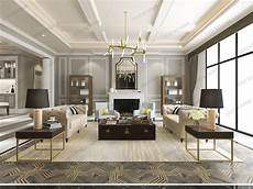 Classic Modern Design 3d Model Modern Classic Contemporary Living Room With