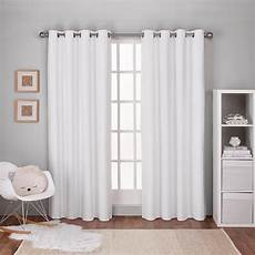 Curtain Images Textured Linen Winter White Thermal Grommet Top Window