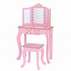 teamson fashion polka dot prints gisele play vanity