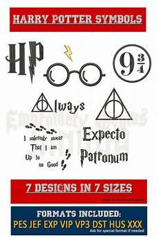 Malvorlagen Superhelden Harry Potter Harry Potter Symbolen Borduurwerk 7 Ontwerpt 7 Maten