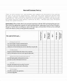 Service Questionnaire Template Free 7 Customer Service Questionnaire Examples Amp Samples