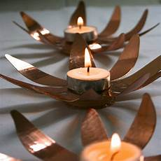 Minera Tea Light Holder Sunflower Copper Tea Lights Maud Interiors