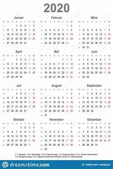2020 Year At A Glance Calendar Simple Calendar 2020 With Public Holidays For Germany