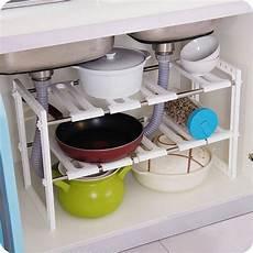 sink 2 tier expandable adjustable kitchen cabinet