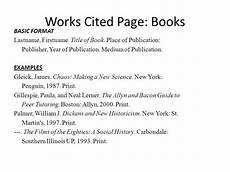 Work Cited Entry Works Cited Entry For A Book