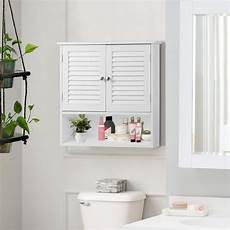 tangkula wall cabinet hanging bathroom medicine cabinet