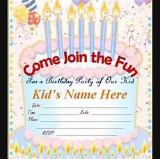 Free Online Kids Birthday Invitations Free 62 Printable Birthday Invitation Templates In Pdf