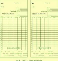 Semi Monthly Time Card 5503 Time Cards Monthy