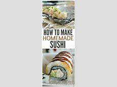 How to Make Homemade Sushi (Crab Sushi)   Recipe