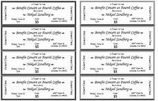 Fundraising Tickets Templates For Free 10 Free Event Ticket Templates For Word And Adobe