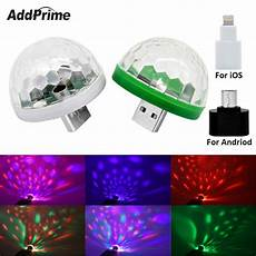 Iphone Disco Light Portable Rgb Mobile Phone Usb Stage Light For Iphone