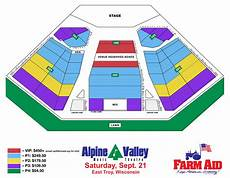 Alpine Valley Detailed Seating Chart Farm Aid 2019 Tickets Pre Sale Vip And Public Sale