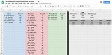 Google Spreadsheet Templates Budget How To Create A Budget Spreadsheet In Google Sheets