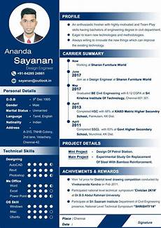 Professional Cv Format For Engineers Professional Cv For Fresher Curriculum Vitae Resume Resume