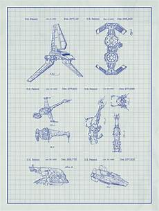 Graph Paper Star Star Wars Space Ships Patent Print On White Graph Paper