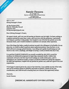 Cover Letter Sample Medical Medical Assistant Cover Letter Sample Resume Companion
