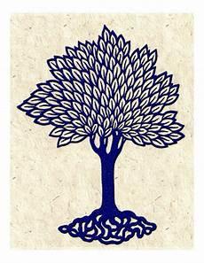Blue Tree Design Items Similar To Navy Blue Tree Vintage Woodcut