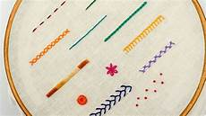 top 12 stitches in embroidery tutorial for