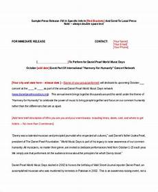 Press Release Example For Event 23 Press Release Template Free Sample Example Format
