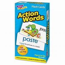Flash Cards Words Action Words Skill Drill Flash Cards Ld Products