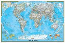Geographic Map National Geographic World Classic Map