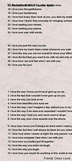 30 Reasons Why I Love You 30 Reasons Why I Love You Poem By Frandy Osias Louis