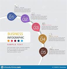 Tim Eline Infographic Design Template And Business Timeline With 5