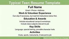 How To Make A Resume For A First Time Job How To Create A Resume For A Teenager 13 Steps With