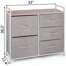 vevor fabric 5 drawer dresser and storage organizer unit