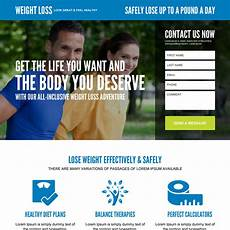Weight Loss Sample Weight Loss Landing Page Design Templates Example To Boost