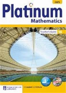 9780636132498 Platinum Mathematics Grade 10 Teachers Guide