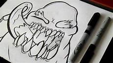 como desenhar um monstro grafite
