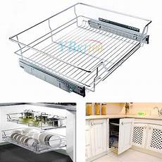 sliding storage drawer drawers pull out wire basket shelf
