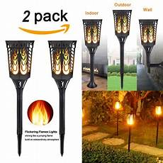 Tiki Lights Canada 2 Pack 2018 Upgrade Solar Path Torches Lights Dancing