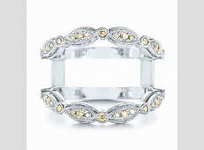 Platinum Custom Yellow Diamond Jacket Wedding Band #103392