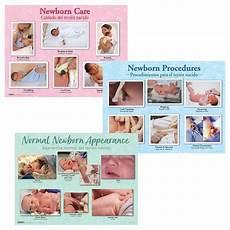 Educational Newborn Charts Set Of 3 Childbirth Graphics